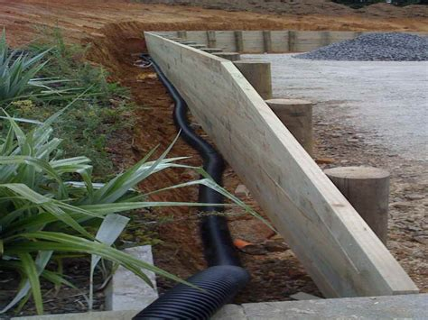 outdoor retaining wall drainage some ways to give the