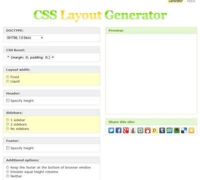 layout generator html css blanco designs