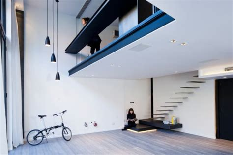 Laconic Apartment With Floating Stairs And A Lot Of LED