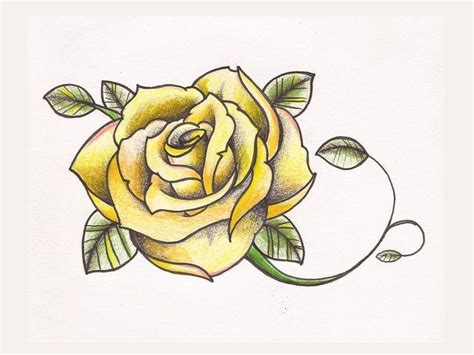 metal rose tattoo 25 best ideas about yellow tattoos on