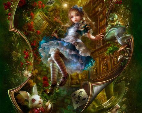 alice  wonderland room wallpaper wallpapersafari