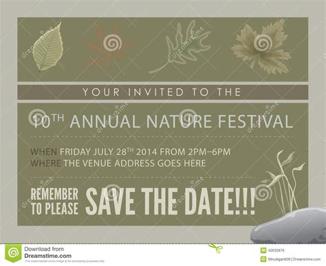 Template Event Flyer Or Save The Date Card Stock Illustration Illustration Of Design Flowing Save The Date Flyer Template