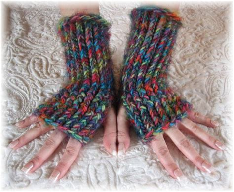 loom knit mittens loom knit arm warmer fingerless gloves clothing jewels