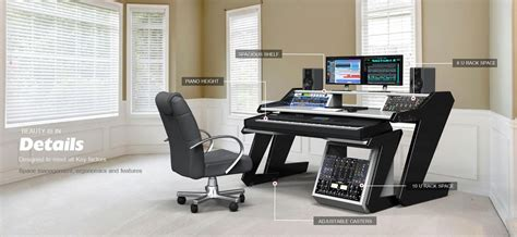Home Studio Desk Workstation Furniture Recording Studio Desk