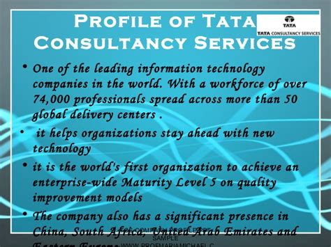 information technology company profile template tcs company profile presentation sle