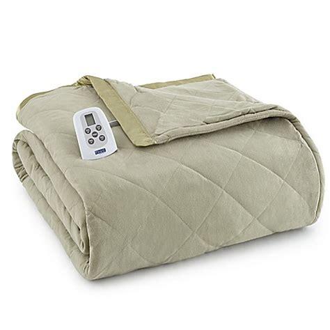 electric comforter buy micro flannel 174 electric heated queen comforter blanket