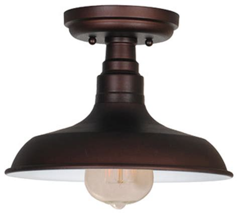 farmhouse ceiling lights kimball 1 light semi flush ceiling mount galvanized