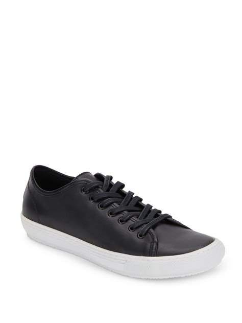 saks mens sneakers saks fifth avenue low top leather sneakers in black for