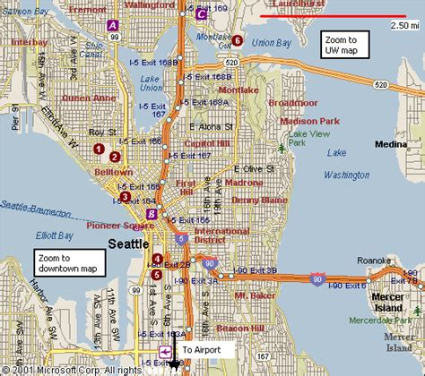 seattle map images seattle map travelsfinders