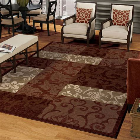 better homes and gardens scroll patchwork area rug multi