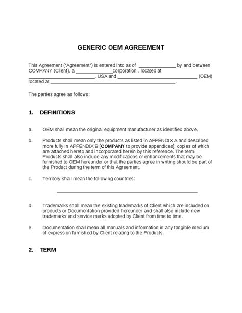 sle software license agreement template manufacturing license agreement template 28 images sle