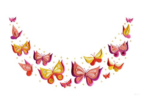 embroidery design butterfly butterfly jeweled neckline embroidery design