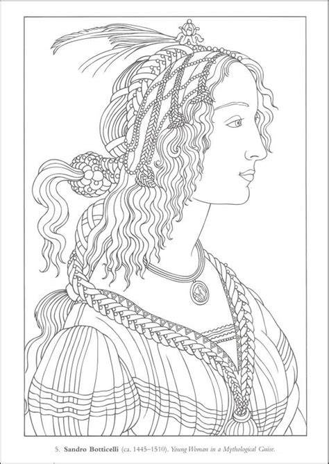 Printable Coloring Pages Renaissance | free coloring pages of renaissance art