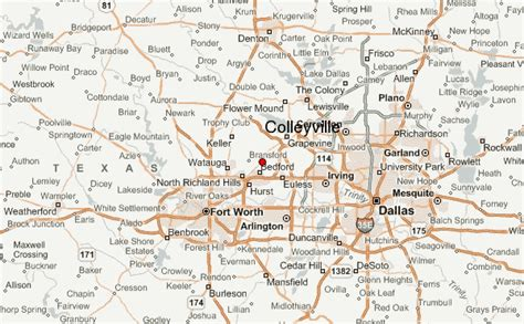 colleyville texas map colleyville location guide