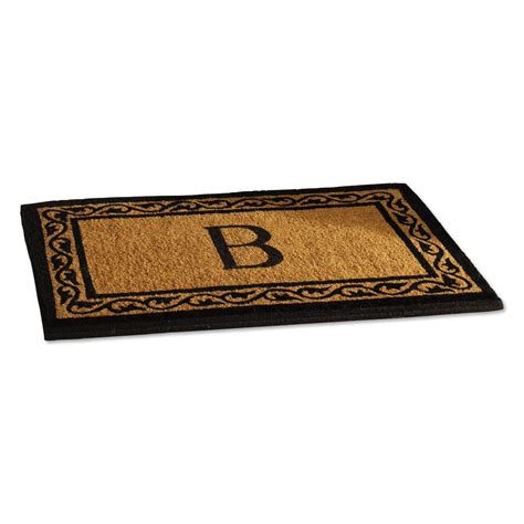 Doormat With Initial by Coco Initial Personalized Doormat Lillian Vernon