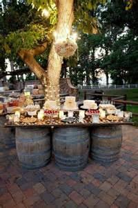 diy outdoor wedding lighting best 25 rustic buffet tables ideas on