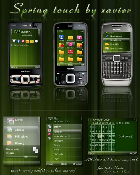 themes for nokia e63 symbian spring touch symbian theme by xavier themes on deviantart