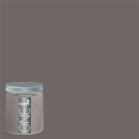shop olympic 8 oz gibraltar gray interior satin paint sle at lowes