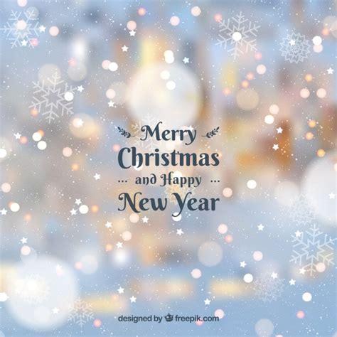 wazige achtergrond vrolijk kerstfeest en gelukkig nieuwjaar gratis vector