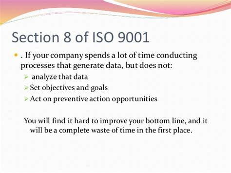 iso 9001 section 8 iso 9001 overview training