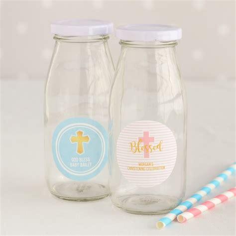 jars with straws personalized baptism milk jars and straws