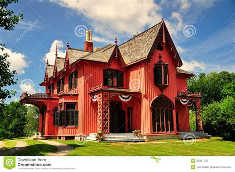 bowen house woodstock ct 1846 roseland cottage stock photos image 32381243