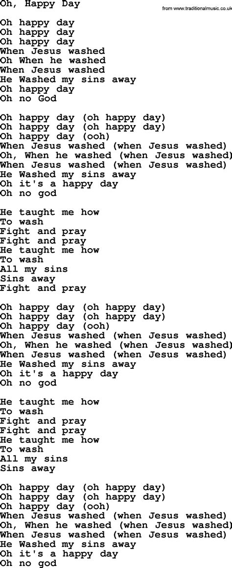 testo canzone happy joan baez song oh happy day lyrics