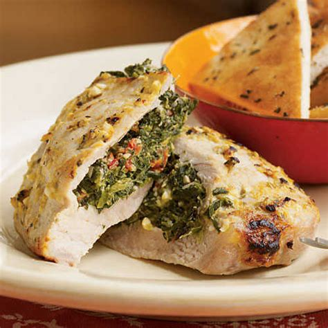 pork chops stuffed with feta and spinach cooking light healthy pork chop recipes cooking light