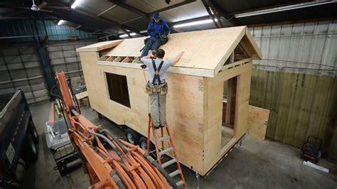 build  frame  tiny house roof ana white tiny