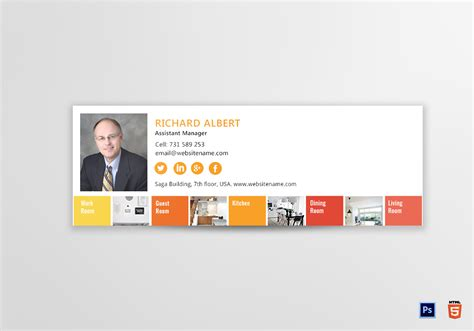 designing an email template interior designer email signature design template in psd html