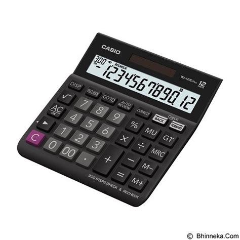Jual Kalkulator Indonesia by Jual Casio Kalkulator Wj 120d Plus Murah Bhinneka