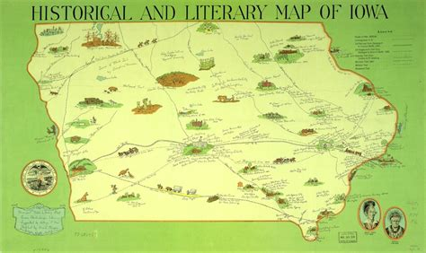 iowa state cus map 18 literary maps of the united states mental floss
