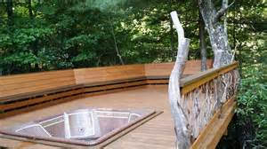 bench railing bench and branch railing for tub deck deck railing