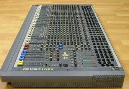 Mixer Spirit Live 4 Bekas ex hire used lighting speakers microphone sales