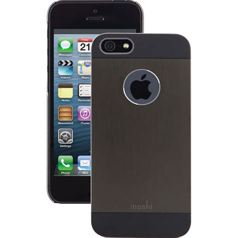 h iphone 5s moshi iglaze armour for iphone 5 5s se black 99mo061002 b h
