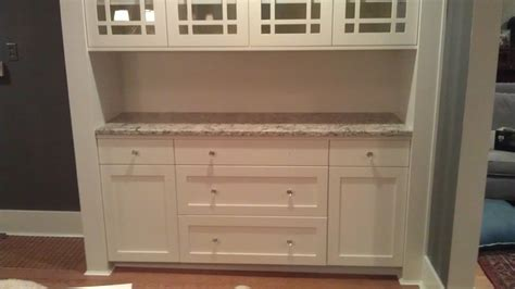 craftsman style hutch traditional dining room