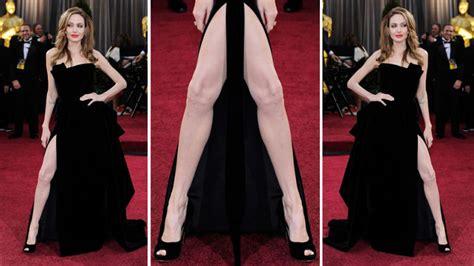Angelina Leg Meme - angelina s right leg poised to supplant all creative arts
