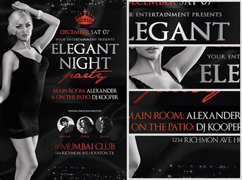 elegant night party flyer template flyerheroes