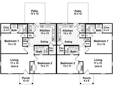 2 bedroom 2 bath duplex floor plans the duplex 7080 2 bedrooms and 2 5 baths the house
