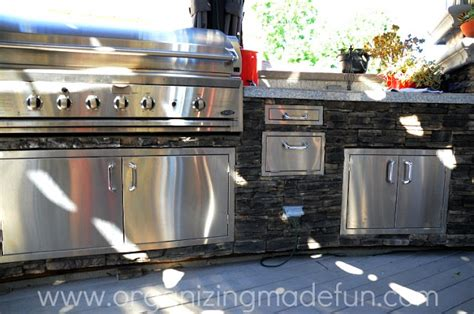 Outdoor Bbq Kitchen Cabinets by Organizing And Entertaining Outdoors Organizing Made Fun