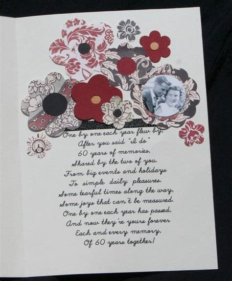 Wedding Anniversary Cards By Email by 60th Wedding Anniversary Poem 60th Anniversary Card