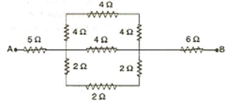 part g what is the equivalent resistance of the resistor network calculate the equivalent resistance between the points a and b for the following combination of