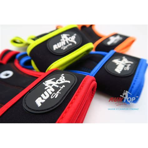 Sarung Tangan Fitness Gloves runtop sarung tangan weight lifting glove support size l backup blue jakartanotebook
