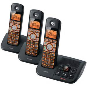 walmart home phones with answering machine motorola k703b dect 3handset cordless answr walmart