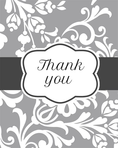 printable thank you card black and white thank you cards printable piece of home