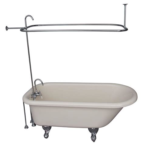 ball and claw bathtub bisque acrylic ball and claw feet roll top tub