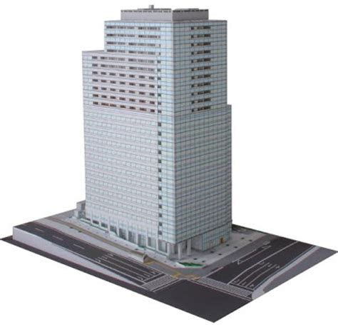 Paper Craft Buildings - free papercraft and paper model japanese skyscraper