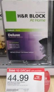 Is There Tax On Gift Cards - h r block deluxe tax software as low as 24 99 totallytarget com