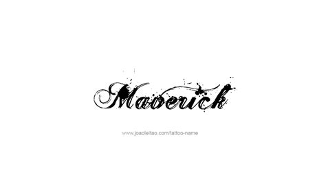 maverick tattoo maverick name designs
