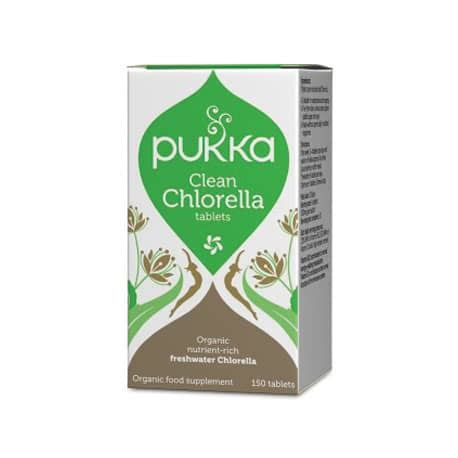 Chlorella Chemo Detox by Pukka Clean Chlorella Tablets Whole Nutrition